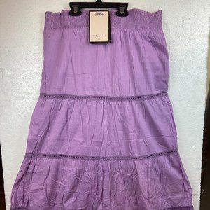 NWT Skirt Boho 100% Cotton Lace Maxi Sz L Spain